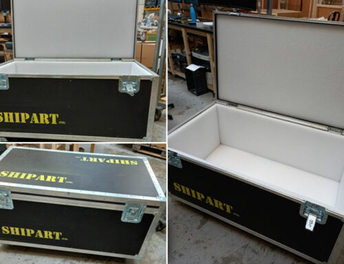 Upcycled flight cases bringing extra protection to art and fragile items in transit