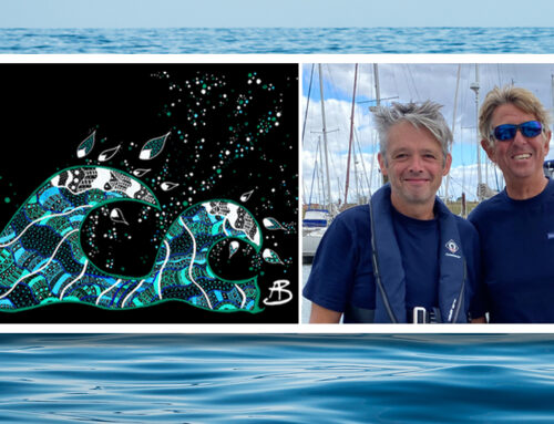 Building a career in art – unknown artist's work to go on record-breaking Atlantic crossing